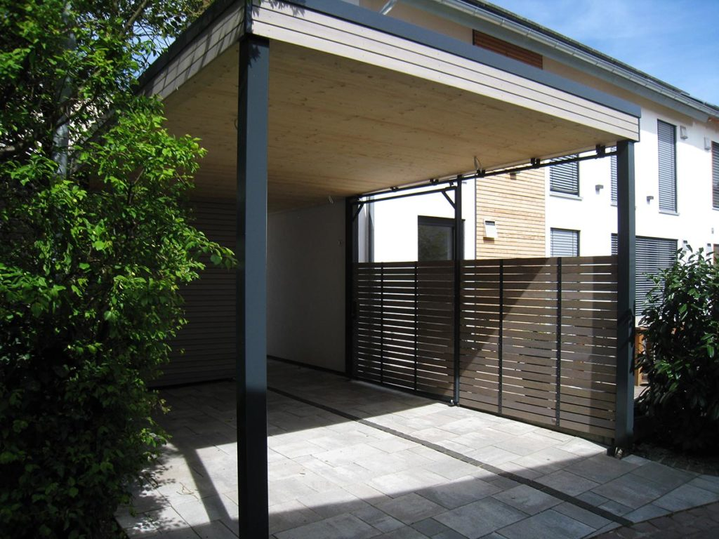 carport mit abstellraum f r fahrr der elmendorff design handwerk. Black Bedroom Furniture Sets. Home Design Ideas